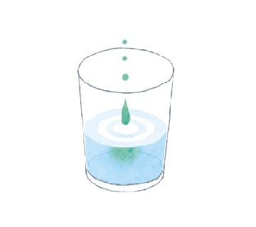 ② コップにコンクールFを5~10滴垂らします。